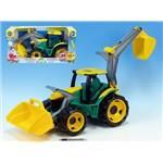 Traktor se lžící a bagrem plast 75cm 2